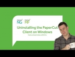 Uninstalling the PaperCut Client on Windows