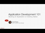 APEX5 AppDev 101 - Building on Existing Tables