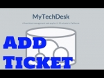 MyTechDesk - Add a Ticket